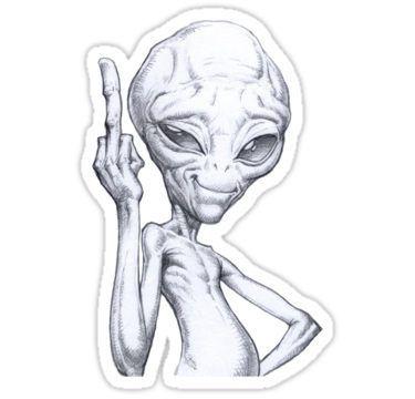 Paul The Alien Sticker By Bilvers In 2021 Alien Drawings Paul The Alien Alien Tattoo