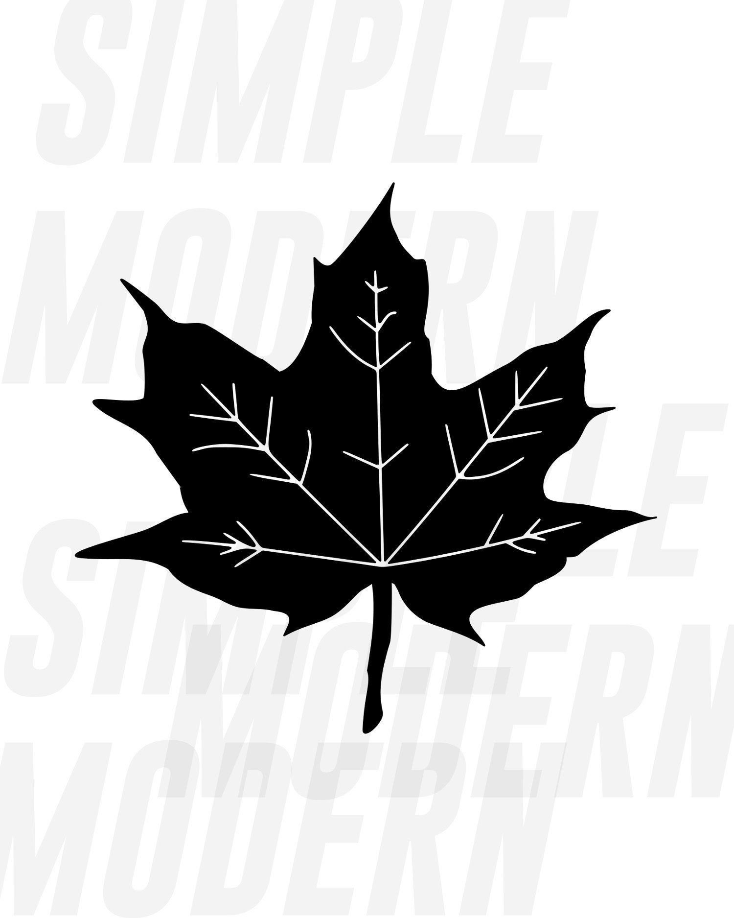 Fall Leaves Svg Files Autumn Maple Leaf Png Dxf Eps Vector Etsy Leaves Vector Autumn Leaves Printable Wall Art