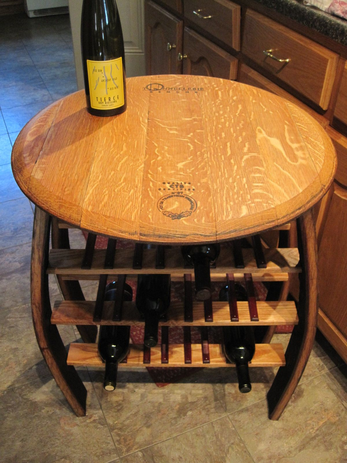 table and wine rack furniture made from finger lakes wine