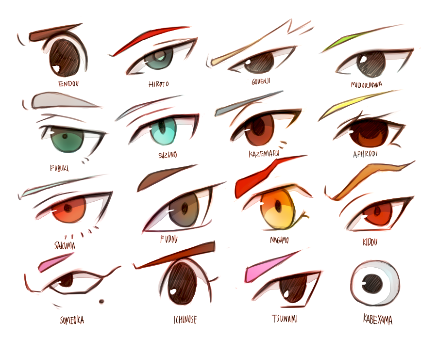 Eyes Inazuma Eleven 32689228 900 730 900x Draw EyesCharactersDrawing ReferenceManga