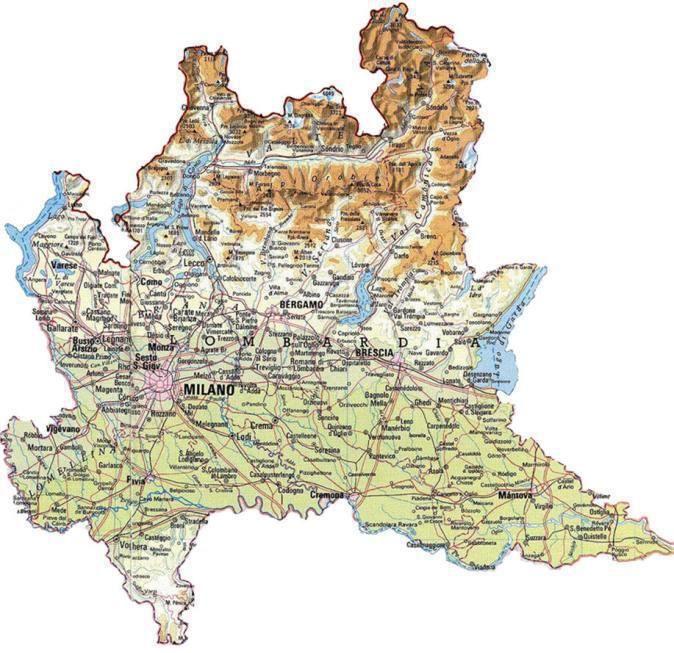 Cartina Lombardia E Piemonte.Milano Cartina Lombardia