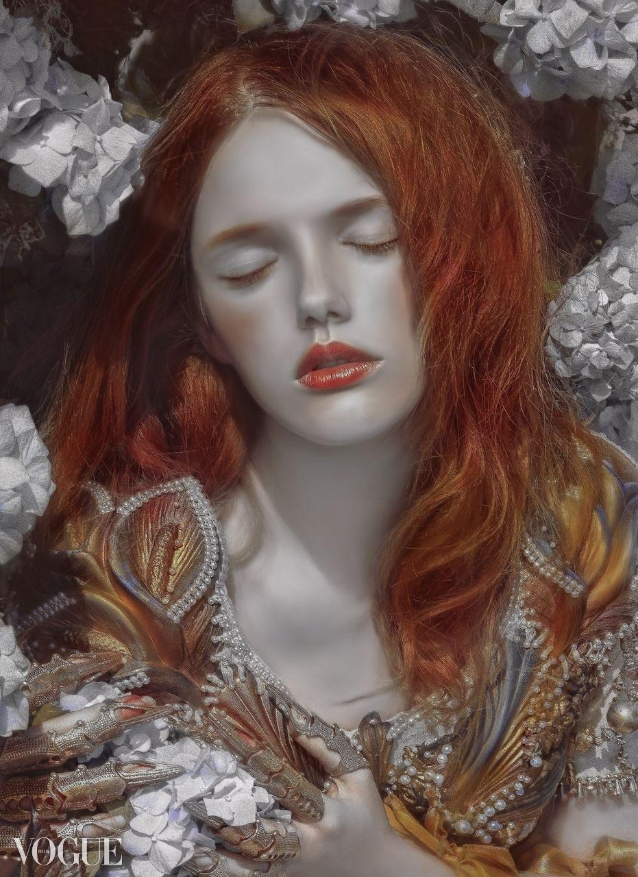 Portrait   Illustrazioni, Ritratti, Capelli rossi