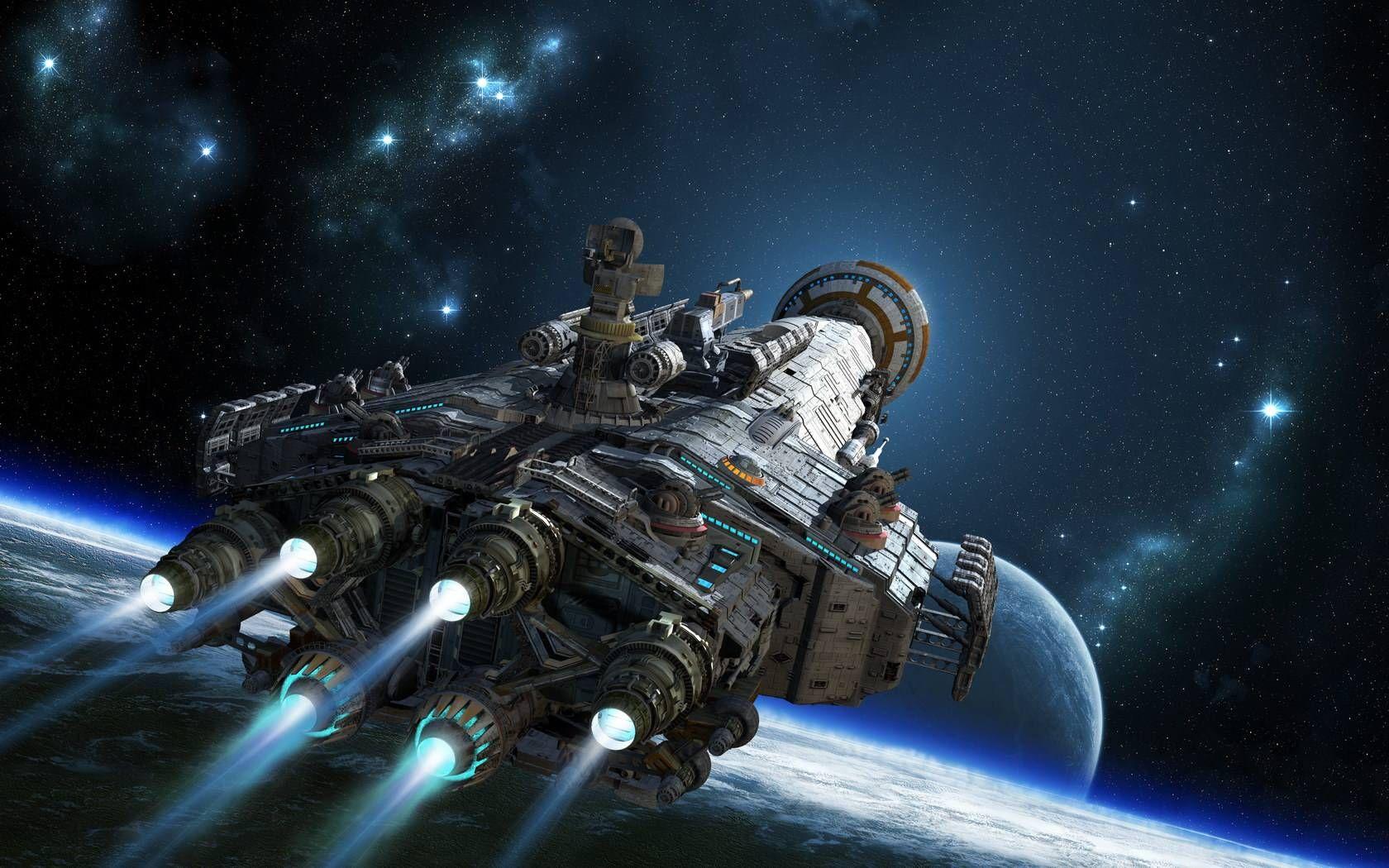 Смотреть фантастические картинки про космос сказать трёх