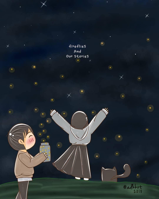 Image May Contain Text Kunang Kunang Dan Cerita Kita Ilustrasi Karakter Kartun Gambar Lucu