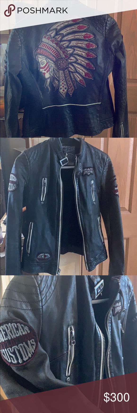 Affliction Leather Jacket Leather jacket, Jackets