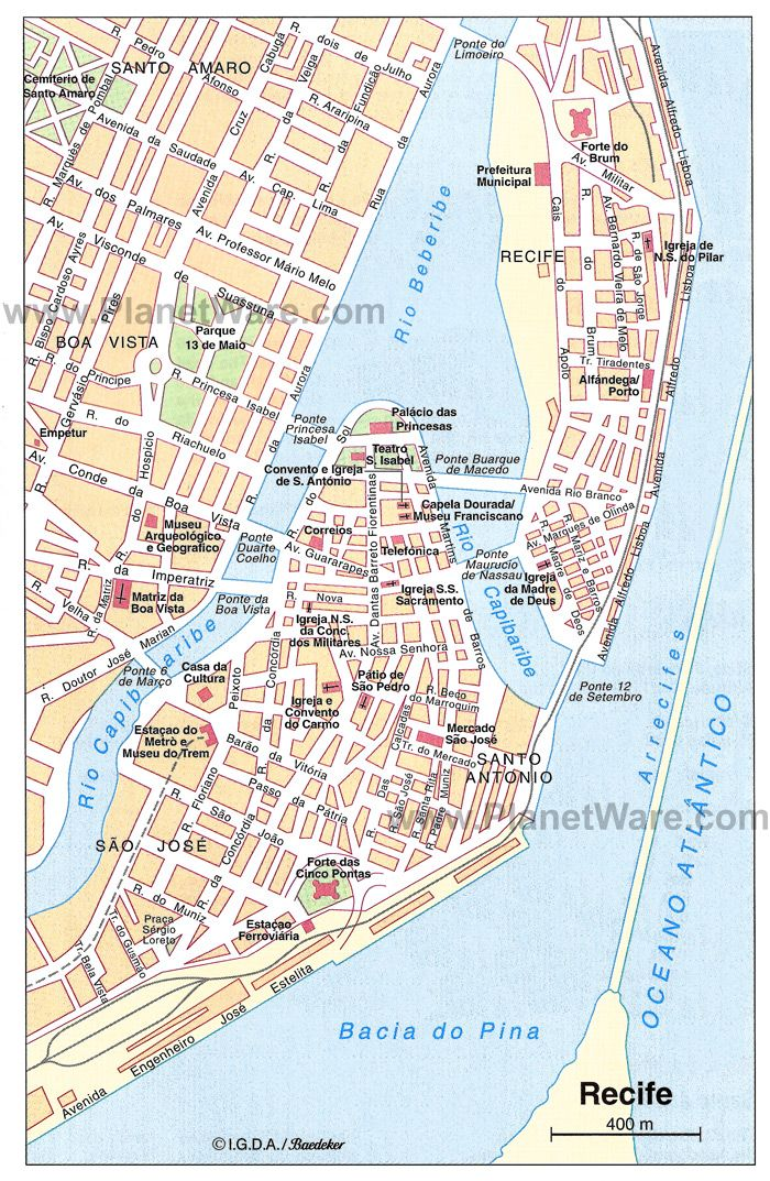 Map of Recife Brazil Brazil 2014 Pinterest Recife Brazil and