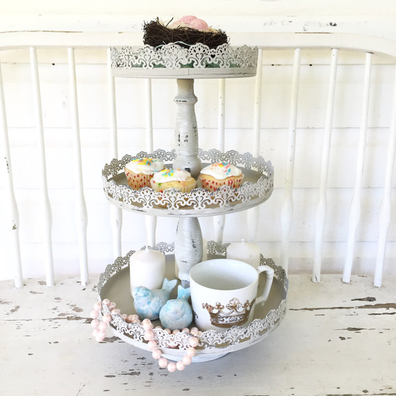 Three Tier Tray Layered Serving Tray Wedding Serving Cupcake Stand Kitchen Home Decor Decorative Stand Tiered Tray Three Tier Tray