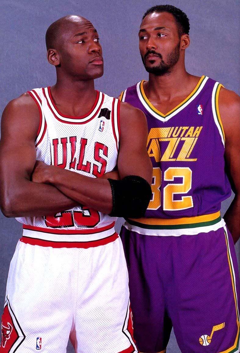Michael Jordan Chicago Bulls Karl Malone Utah Jazz  857319df10d2