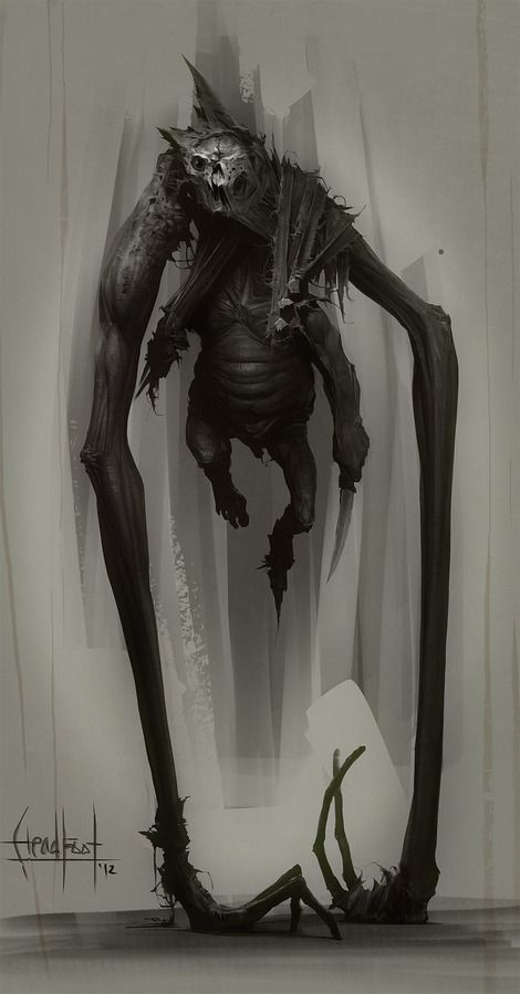 Headfoot concept art #monster