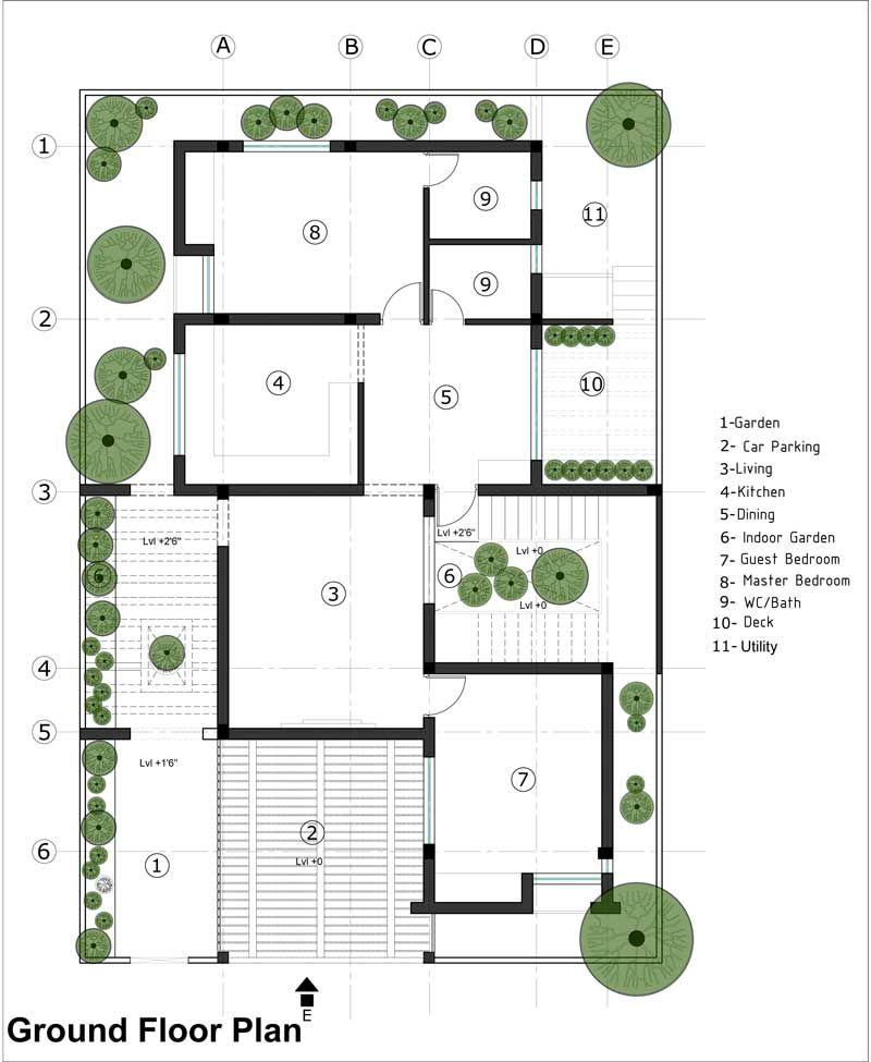 Gunasekaran Residence Residential Architecture Design In Velachery Residential Architecture Architecture Modern House Plan