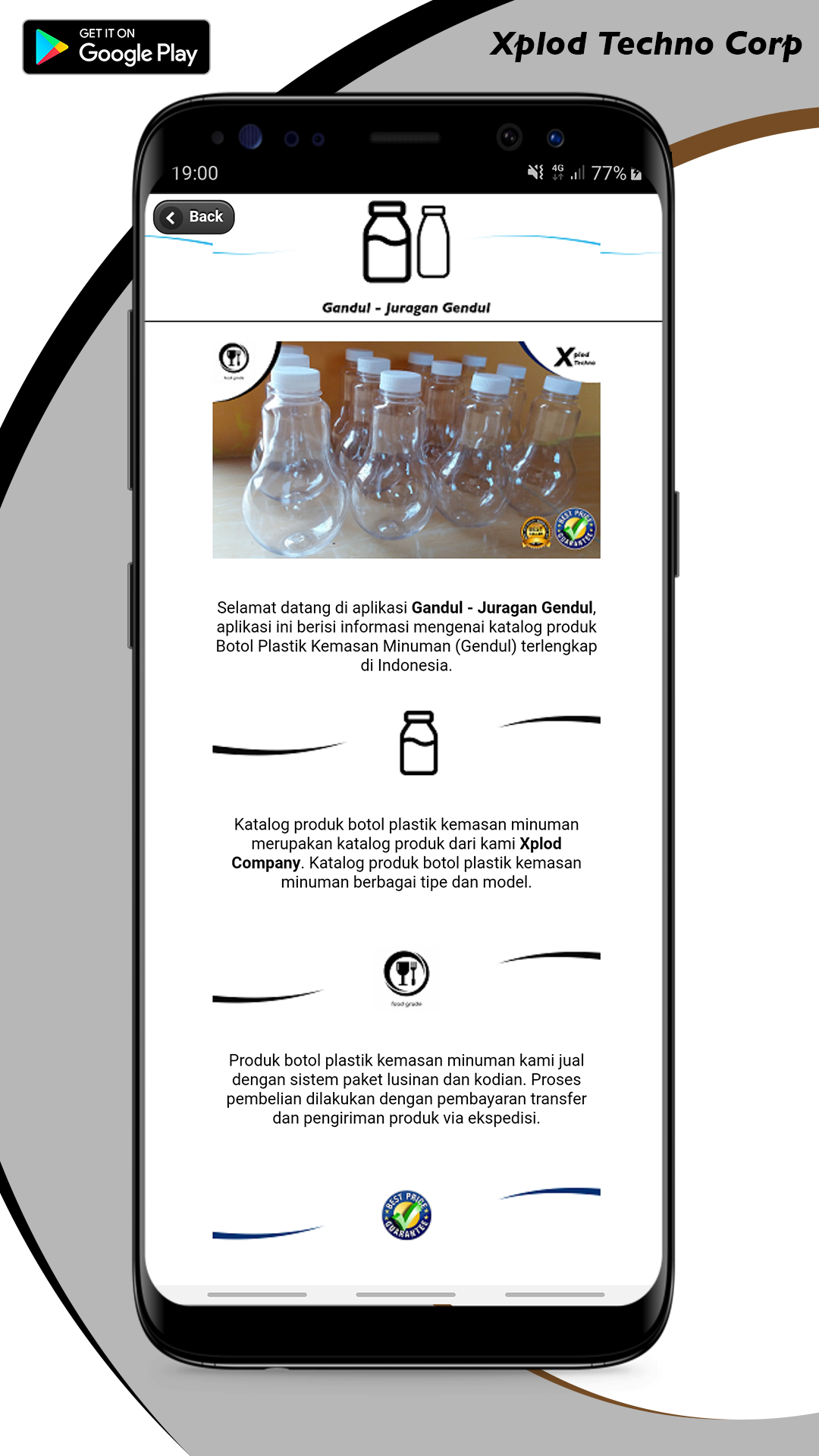 Aplikasi Smartphone Katalog Produk Botol Plastik Kemasan Minuman Dari Solo Smartphone Kemasan Minuman Aplikasi