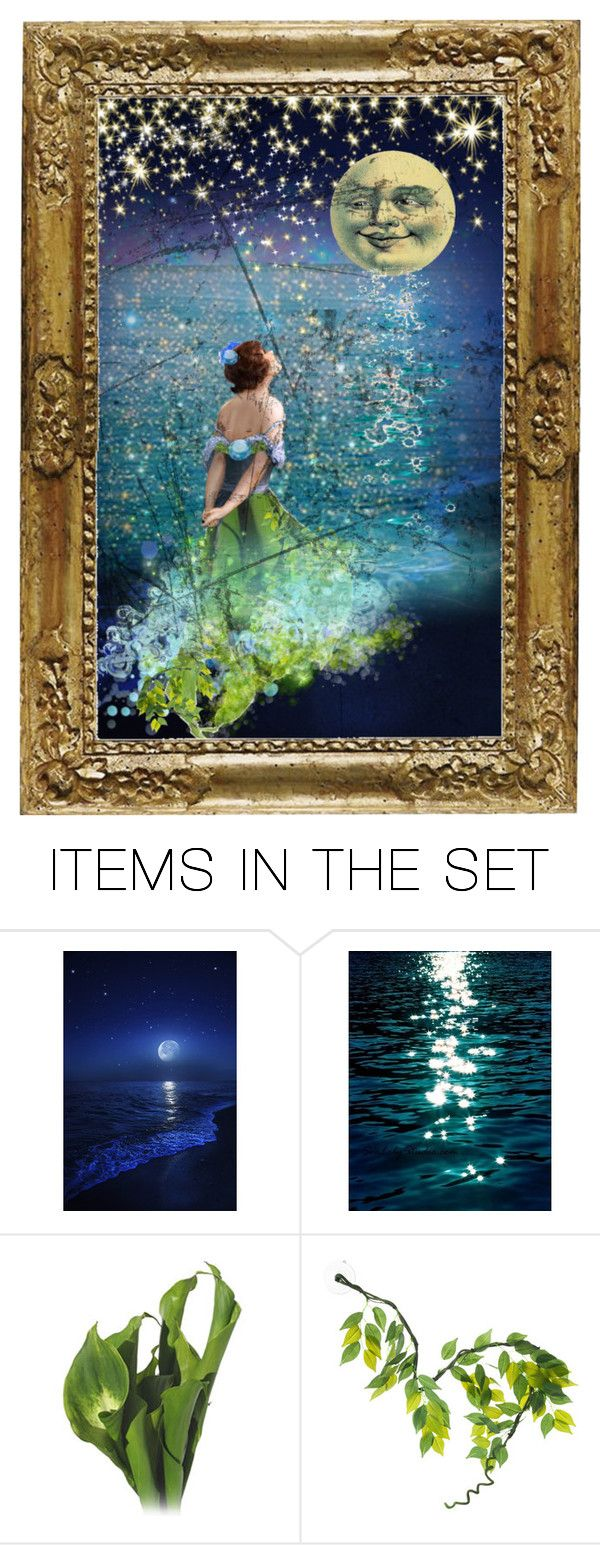 """It Started With....Lilys and Moonlight"" by reggiano ❤ liked on Polyvore featuring art and 332"