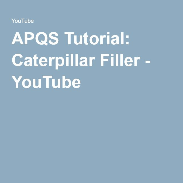 APQS Tutorial: Caterpillar Filler - YouTube