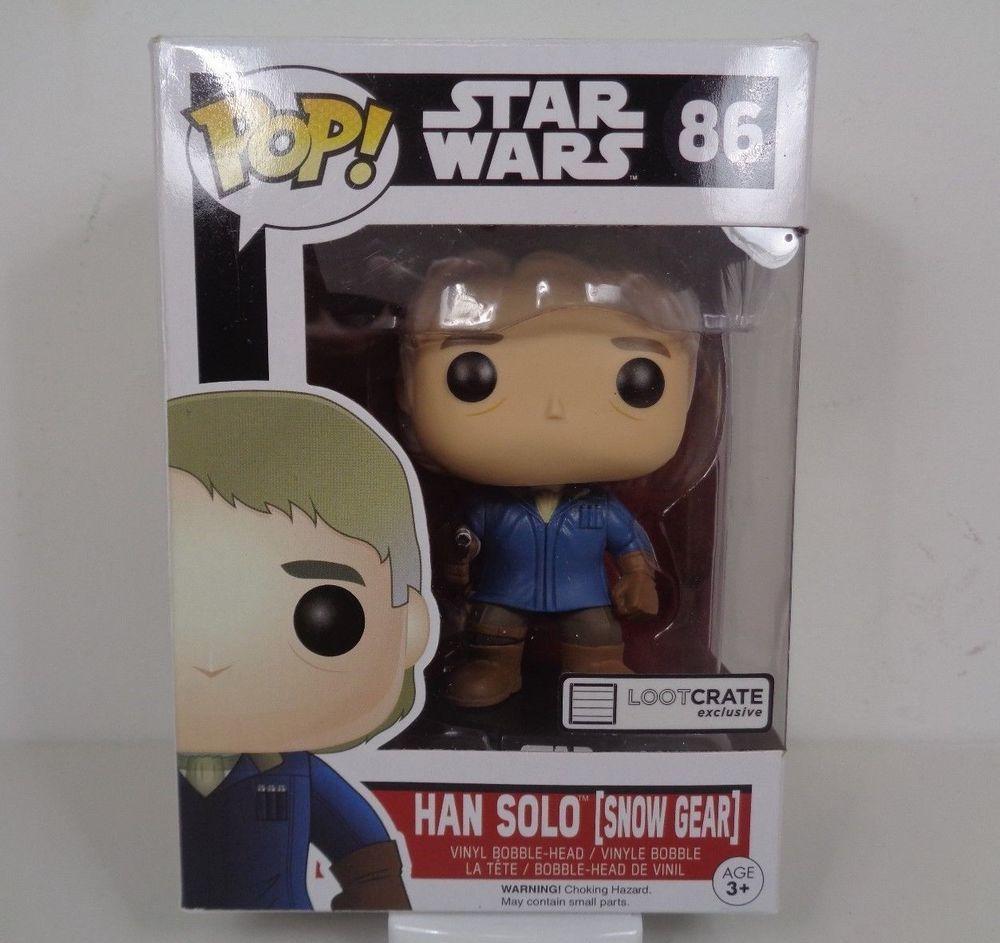 Han Solo Snow Gear Star Wars Pop Funko bobble-head Vinyl figure LootCrate n° 86