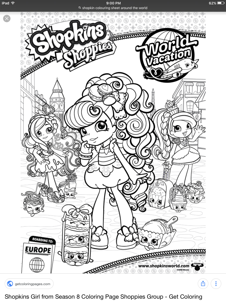 Pin By Ruso Resin On Colouring Shopkins Shoppies Coloring Books Shopkin Coloring Pages Coloring Pages