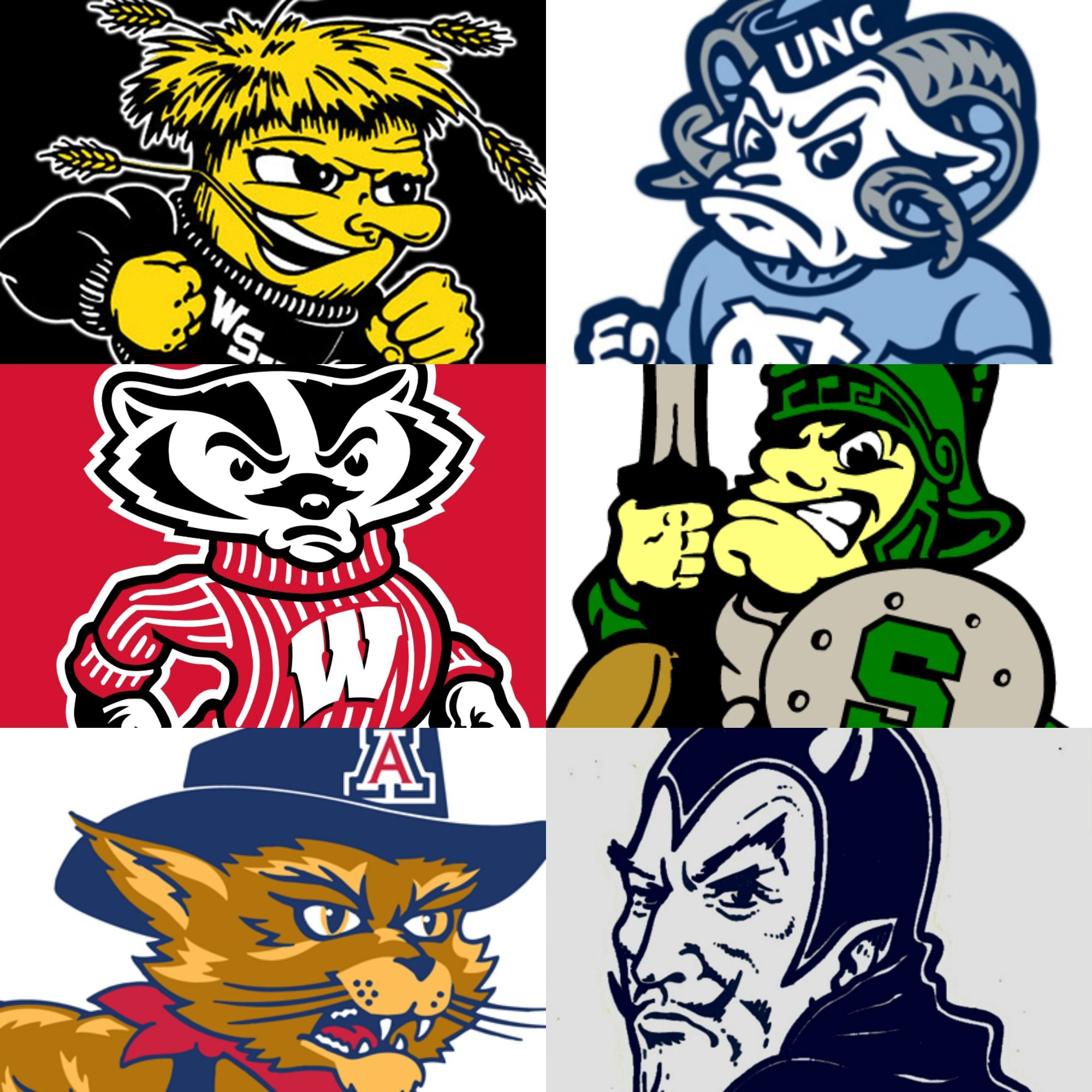vintage college basketball mascots jockular pinterest