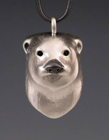 River otter pendant craftsman animal jewelry pinterest river river otter pendant aloadofball Images