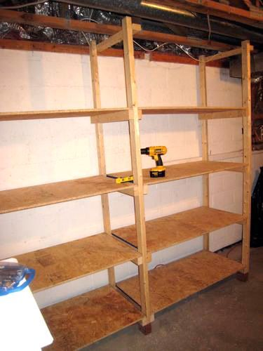 how to build inexpensive basement storage shelves basement rh pinterest com