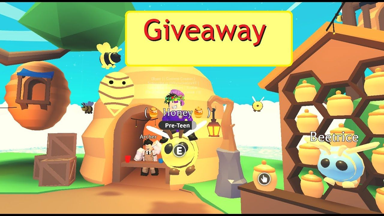 Roblox Adopt Me Giveaway Watch Until The End To Join Roblox