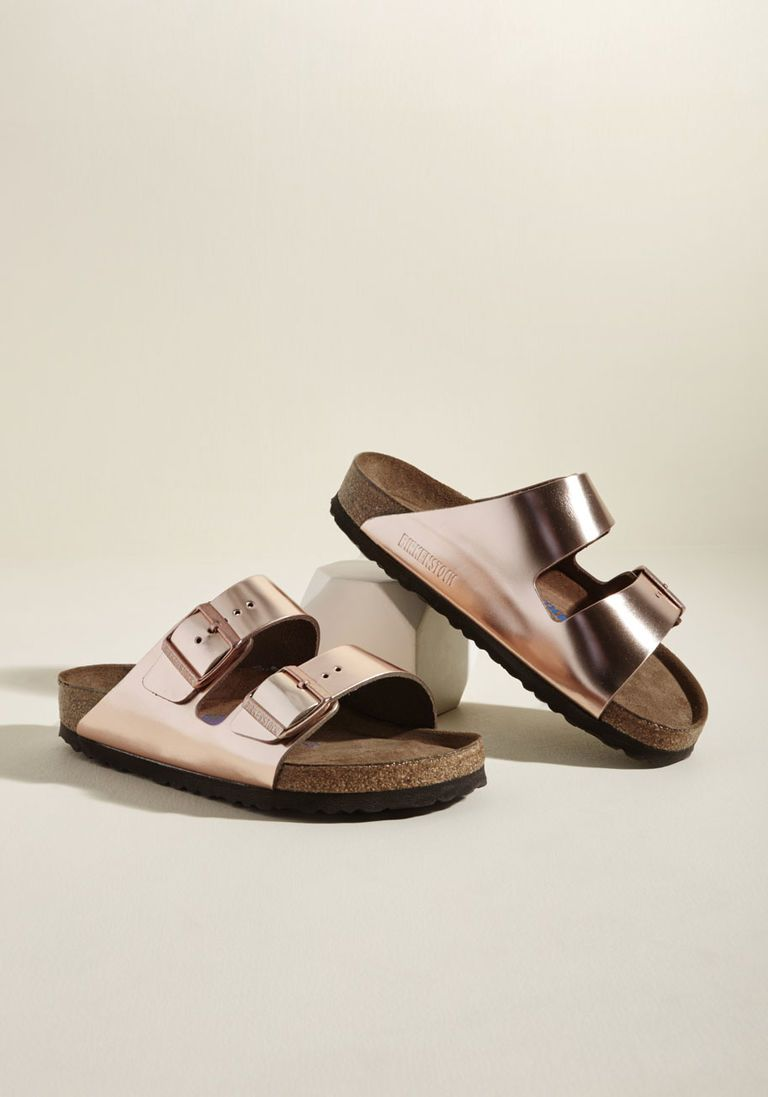 Strappy Camper Sandal in Rose Gold in 37 Flat 0 1 by