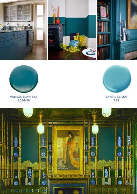 Pea Blue Rooms With Benjamin Moore Colors Venezuelan Sea 2054 30 Santa Clara 753 James Whistler S Room Smithsonian Insute