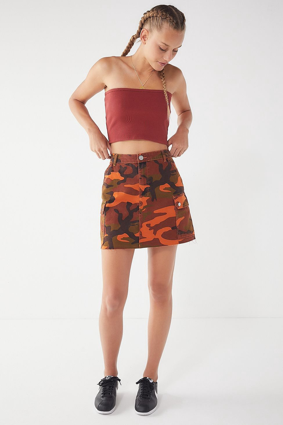 95104540067 Urban Outfitters Uo Hallie Ribbed Knit Tube Top - Maroon Xs ...