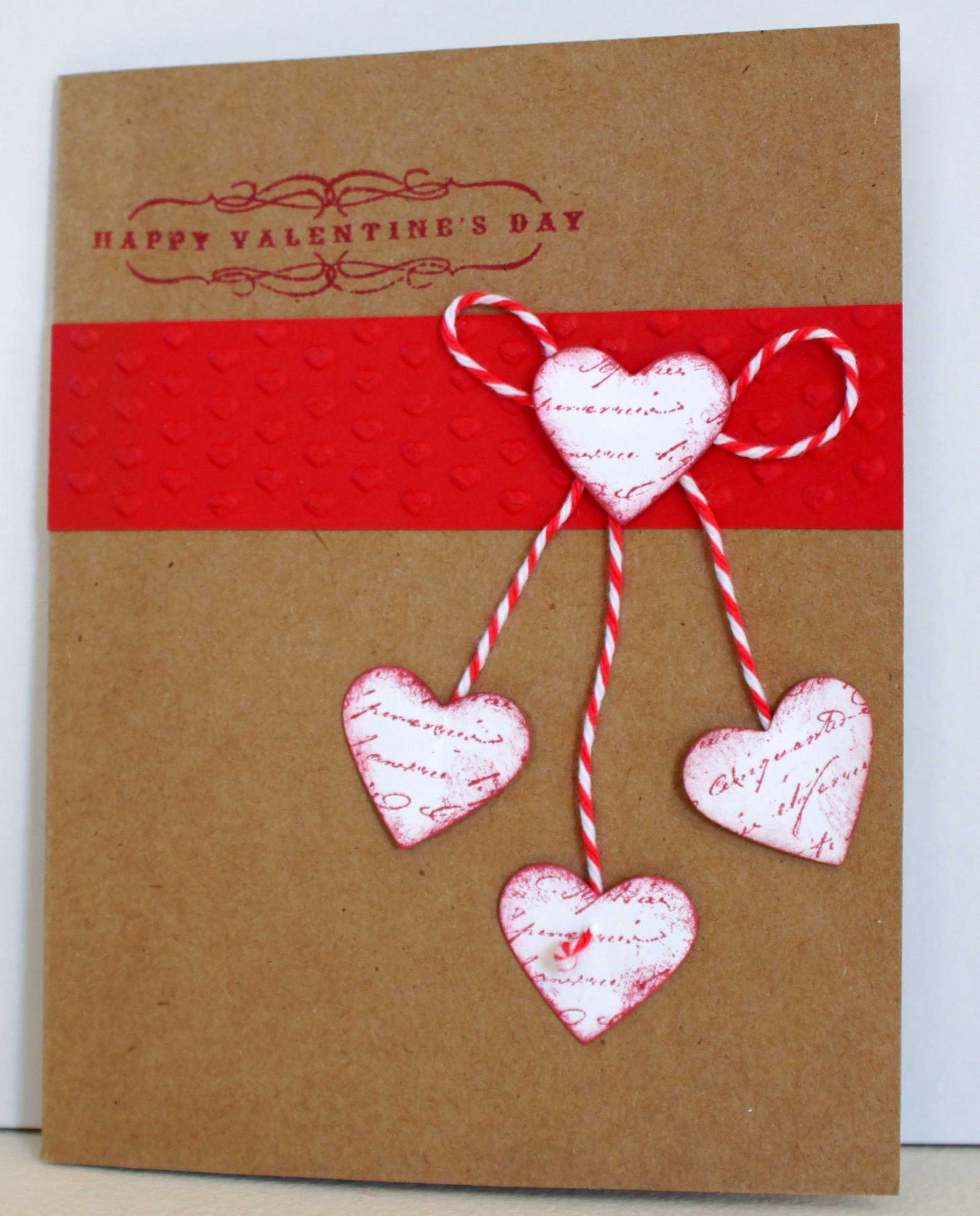 krafty valentine card  stampin up  valentines cards