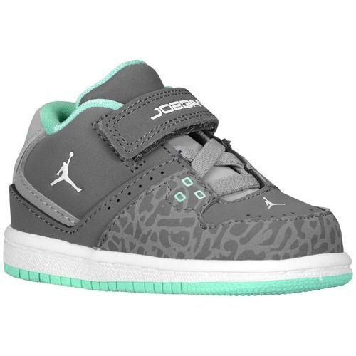 cde8f850964203 Jordan 1 Flight Mid - Boys  Toddler - Basketball - Shoes - Grey Green