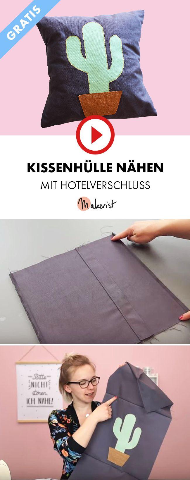 Photo of Kissenbezug mit Hotelverschluss nähen – Makerist auf Youtube  #nähen #nähanle…