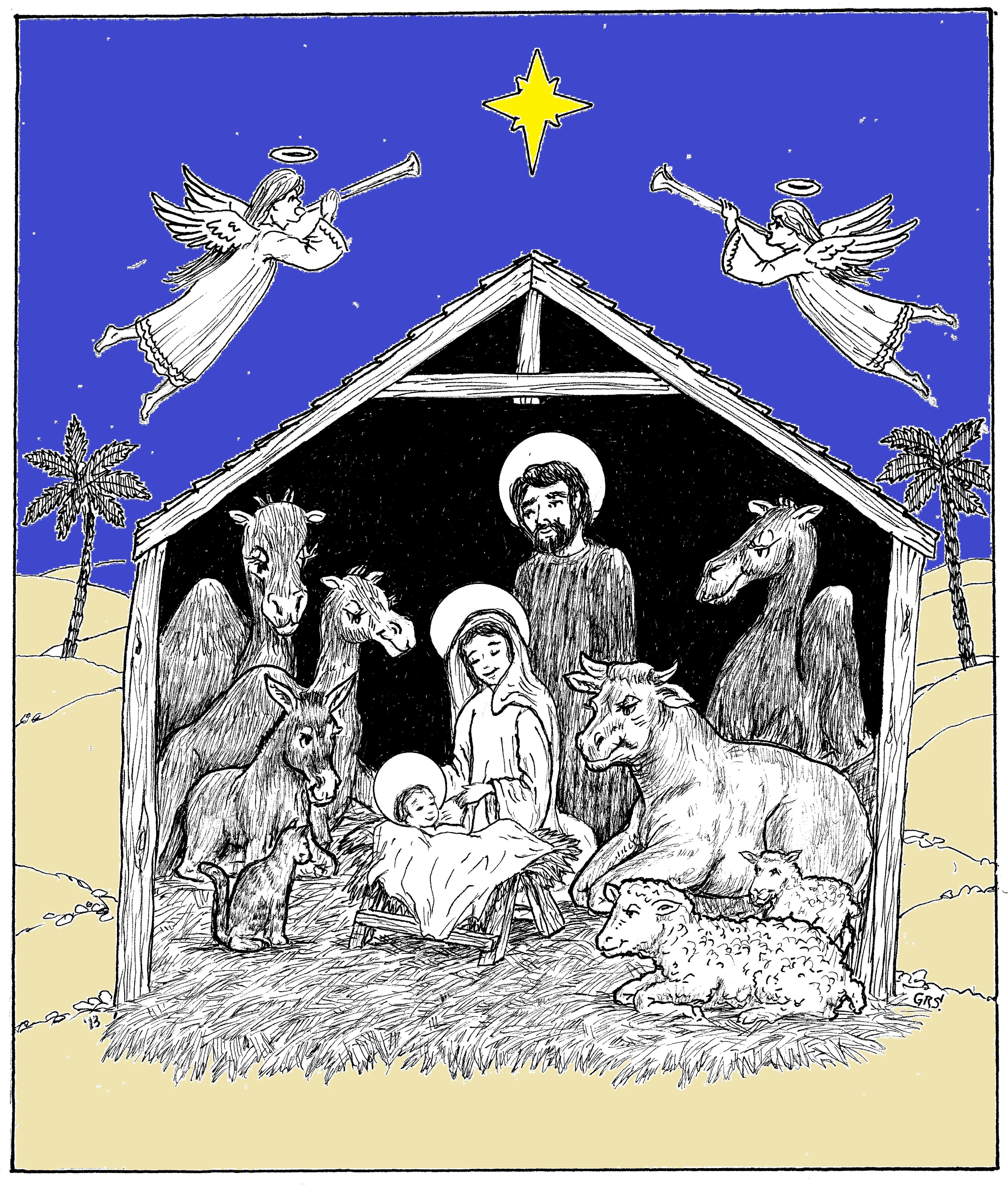 Welcome, Baby Jesus....a heartwarming telling of the night baby Jesus arrived, as told by the animals in the stable.