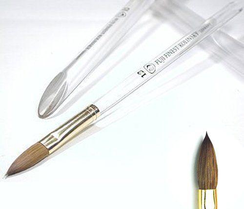 Fuji Finest 100 Pure Kolinsky Nail Art Brush With Clear Acrylic