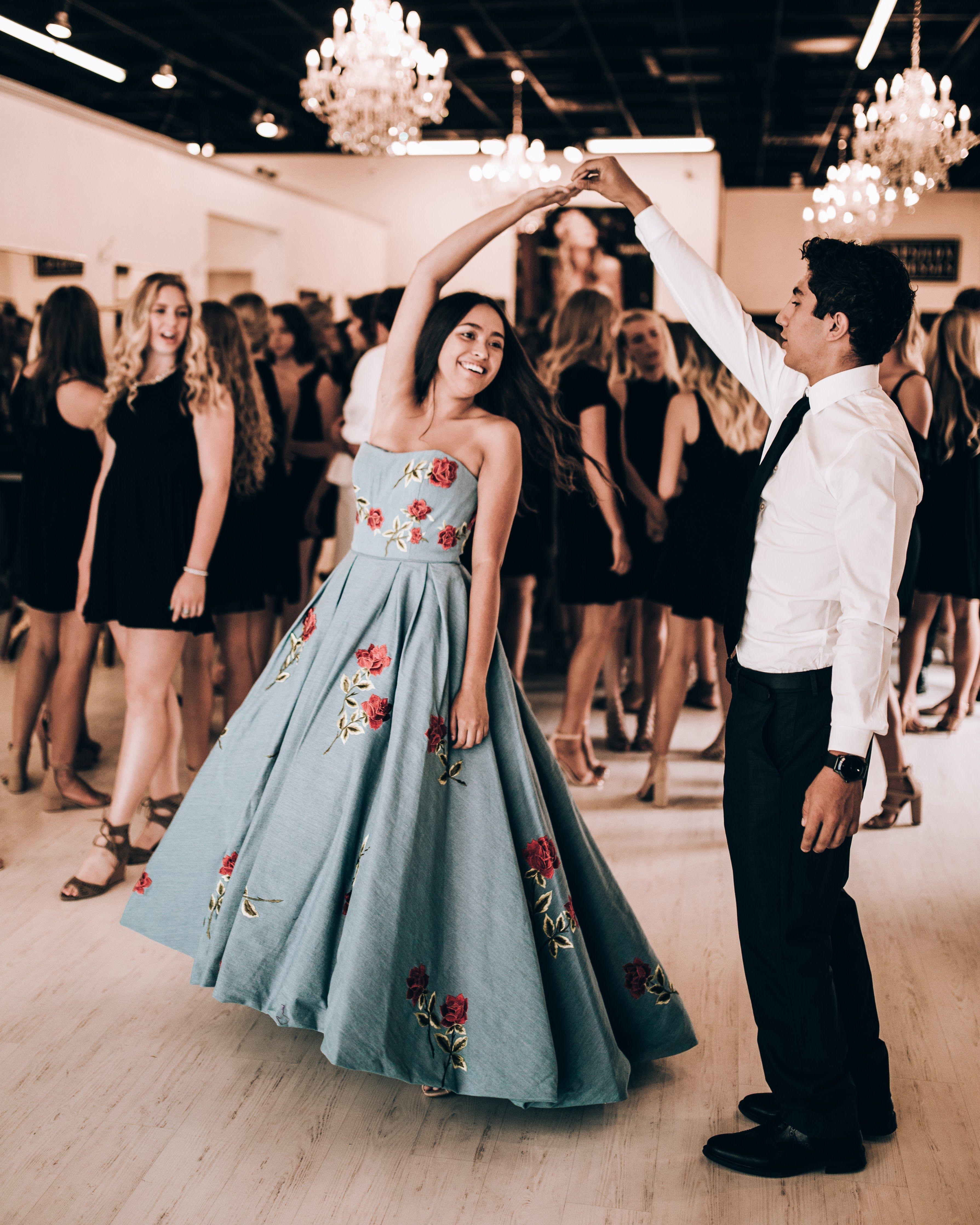 6c21db84b6d Sherri Hill floral print blue tea length strapless dress Ypsilon Dresses  Pageant Prom Homecoming Sweethearts Evening Wear Formal Gown School Dance  Black Tie ...