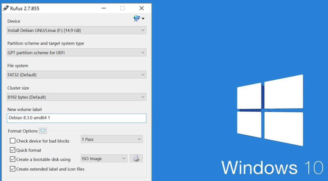 Create Windows 10 Creators Update bootable USB Stick/DVD