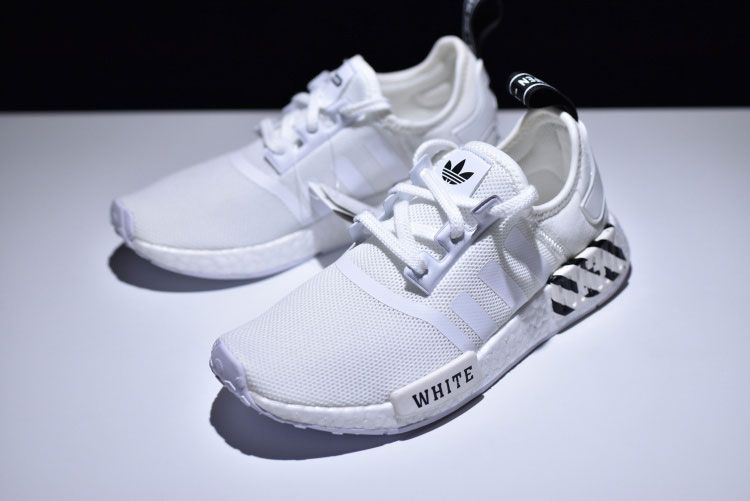 finest selection 167bc 5789f ... real adidas nmd r1 x off white pk boost women and men running shoes  core white