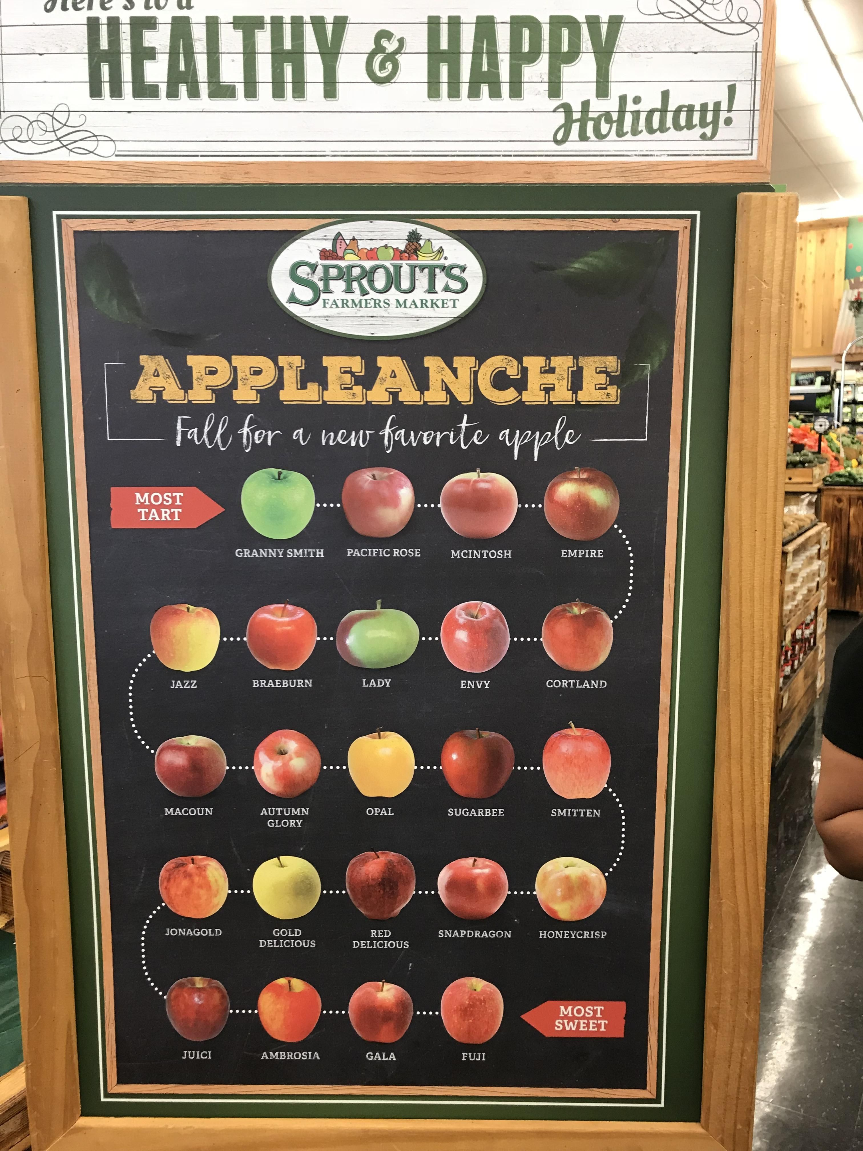 Apple Chart From Tart To Sweet Via Reddit Com R Coolguides