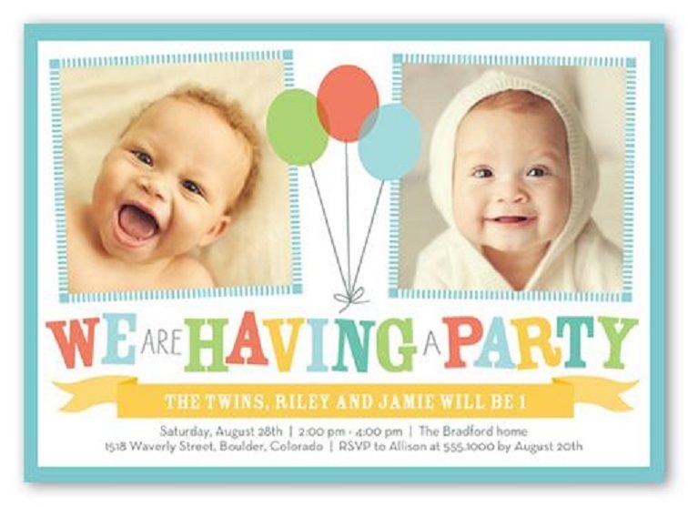 Free Birthday Invitation Templates For Twins Birthday Party Invitations Printable Birthday Invitations Birthday Invitation Templates