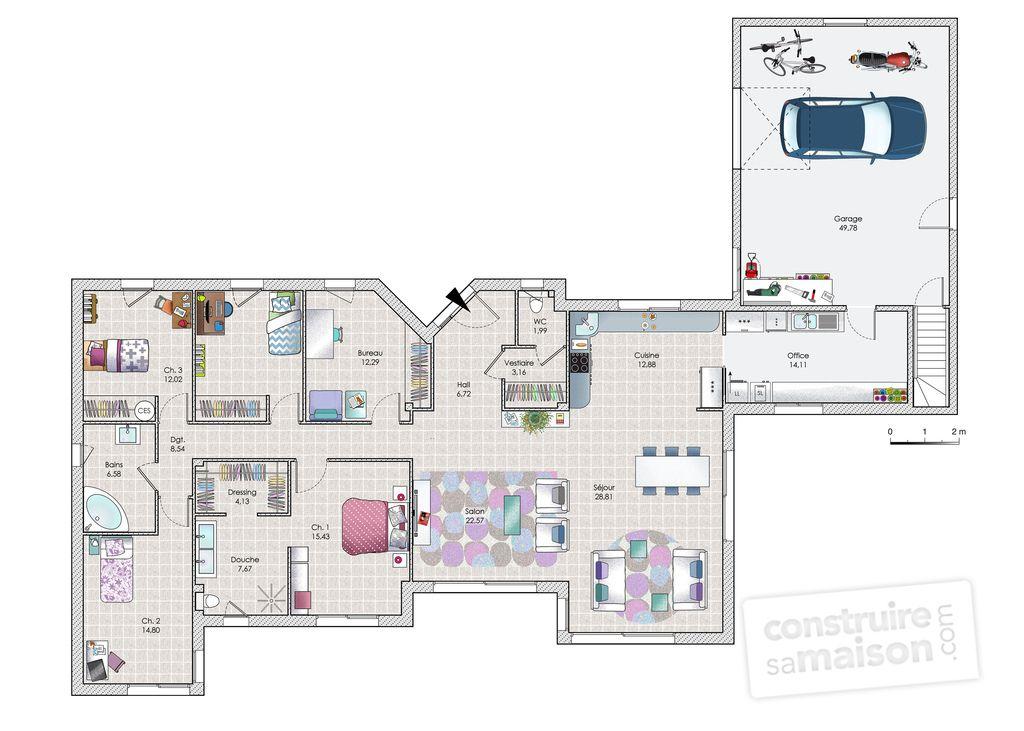 Une maison au coeur de la nature House - Faire Les Plans De Sa Maison En D