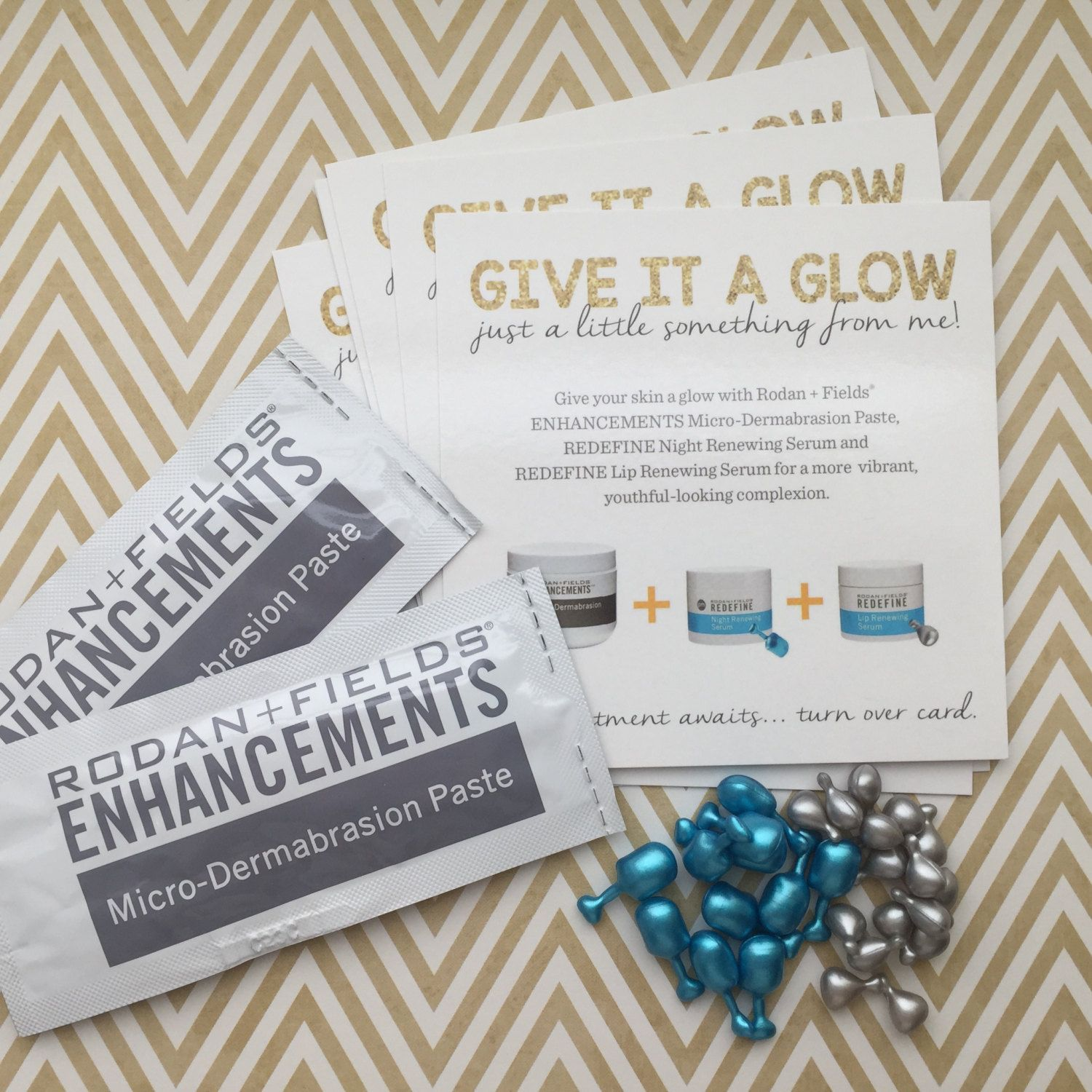 give it a glow cards for your skincare business