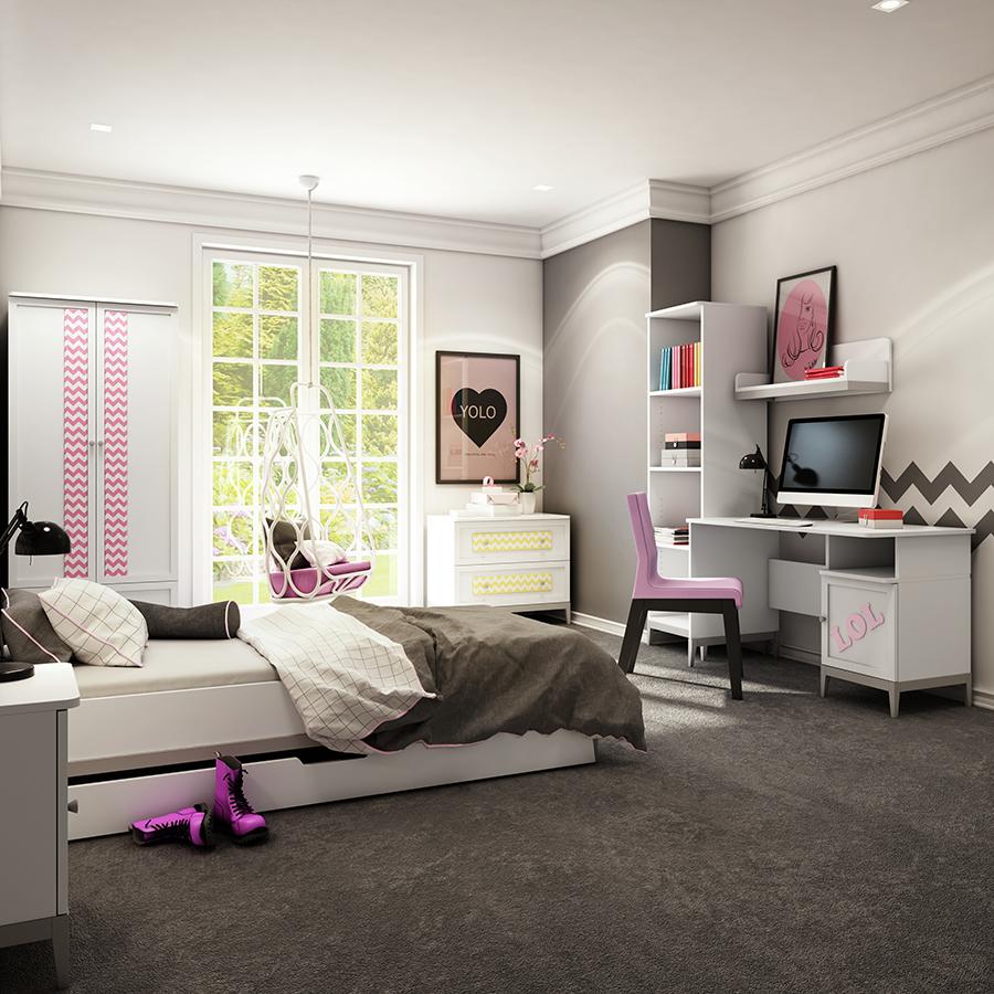 Wunderschönes Jugendzimmer Im Modern Design. #kinderzimmer #jugendzimmer # Kinderbett #kaufen