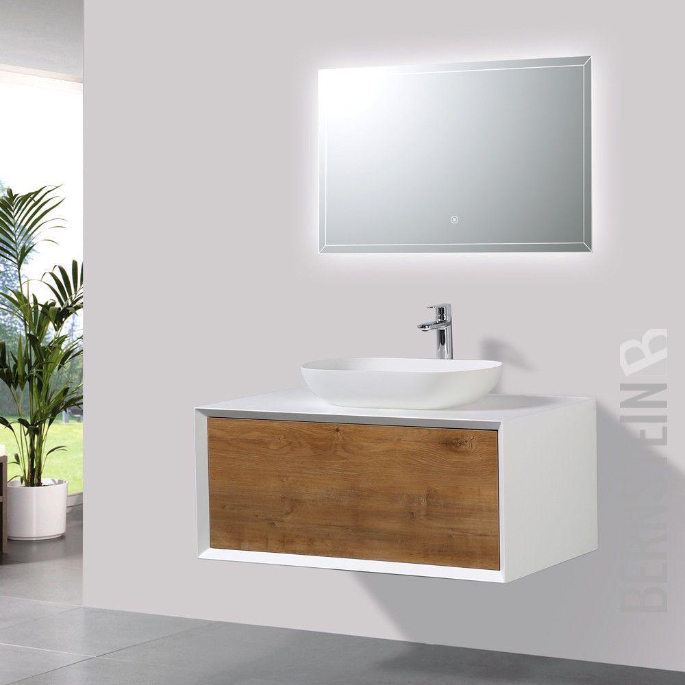 Details Zu Badmobel 90 Cm Eiche Led Spiegel Aufsatzwaschbecken Unterschrank Waschtisch Aufsatzwaschbecken Unterschrank Wc Waschbecken