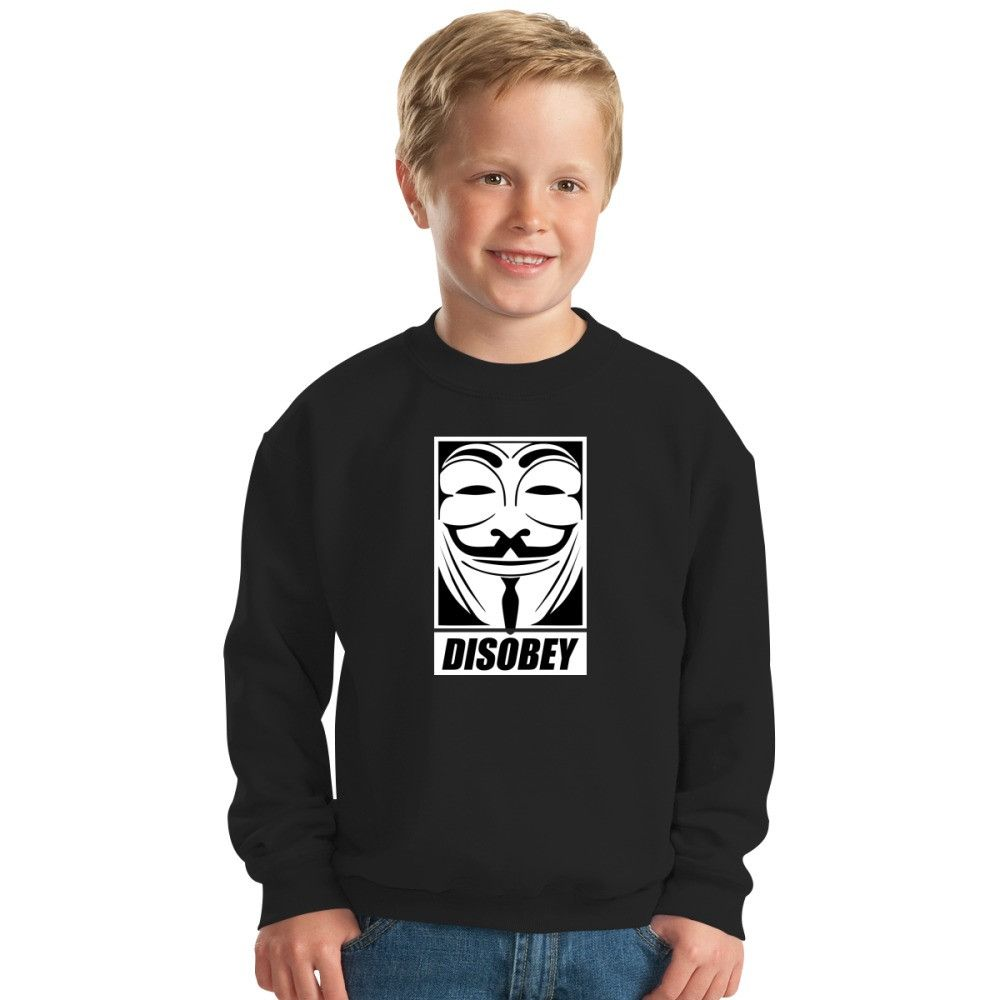 Disobey V For Vendetta Kids Sweatshirt