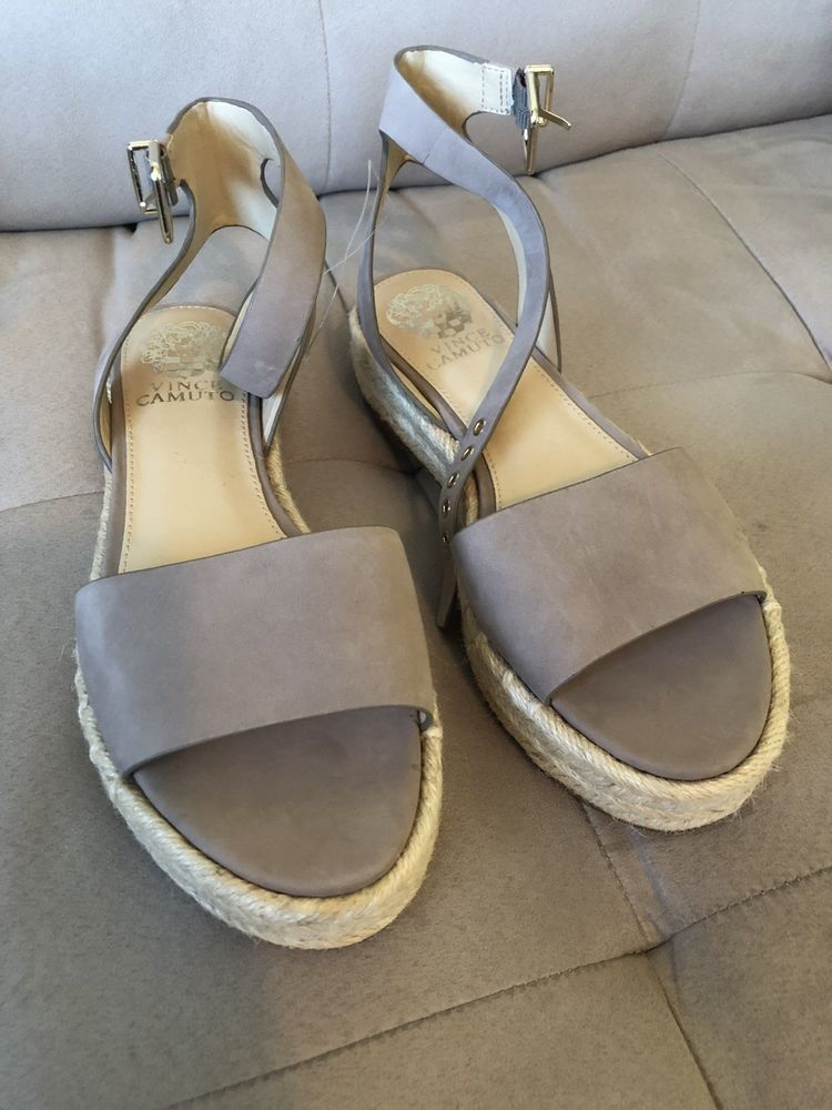 c579819cccd NWT Vince Camuto Kathalia Espadrille Ankle Strap Sandals Dusty Mink Sz 7.5   110  fashion  clothing  shoes  accessories  womensshoes  sandals (ebay  link)