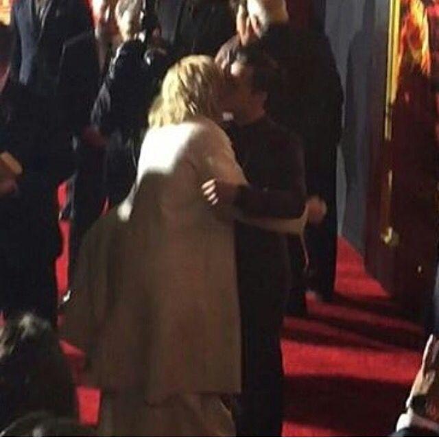 Jennifer Lawrence And Josh Hutcherson Kiss