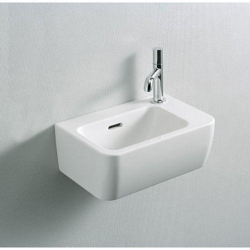 Laufen Pro A fontein met kraangat rechts 36x25cm wit - 8169550001061 - Sanitairwinkel.nl