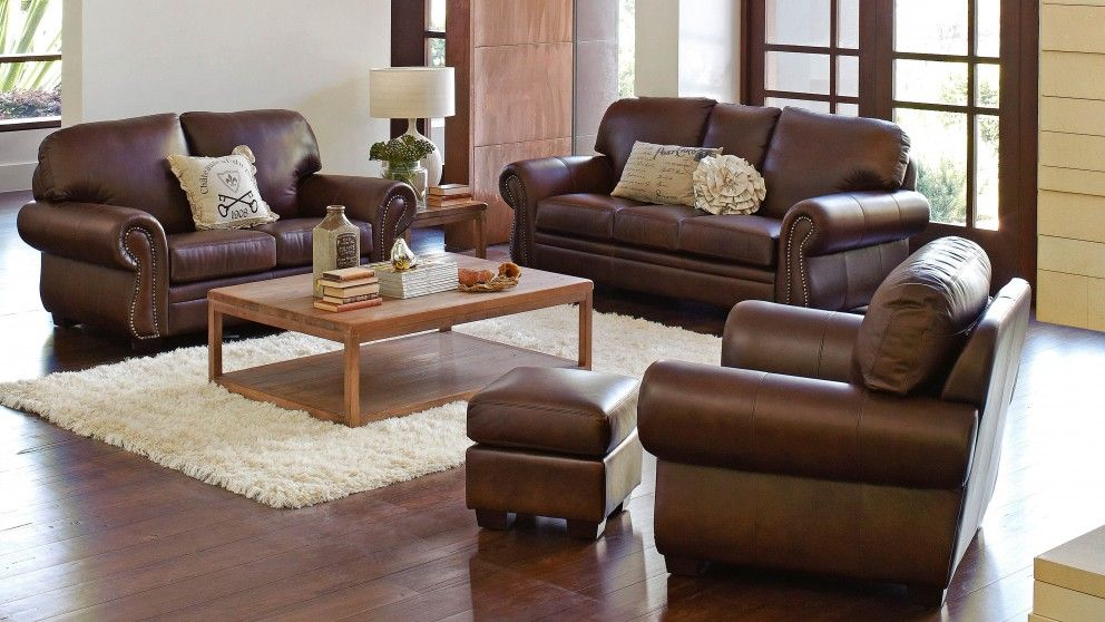 Dorchester 3 seater leather sofa furniture outdoor for Outdoor furniture harvey norman