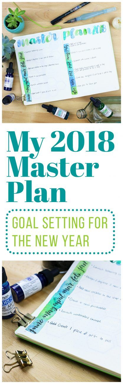 My 2018 Master Plan - Setting Goals for the New Year