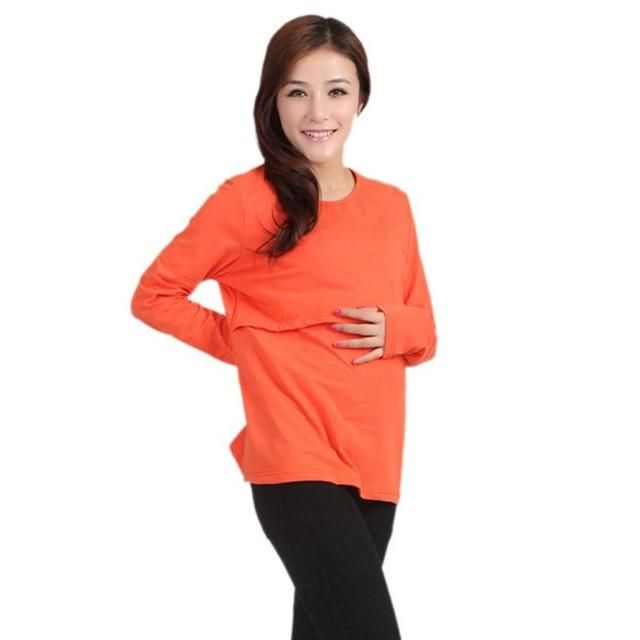 f53496026cfd0 Pregnant Maternity Clothes Nursing Tops Breastfeeding Long Sleeve T-Shirt  Long sleeves Drop ship