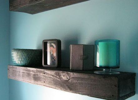pallet wood floating shelves, diy, pallet, repurposing upcycling, shelving ideas, woodworking projects, Pallet Wood Floating Shelves