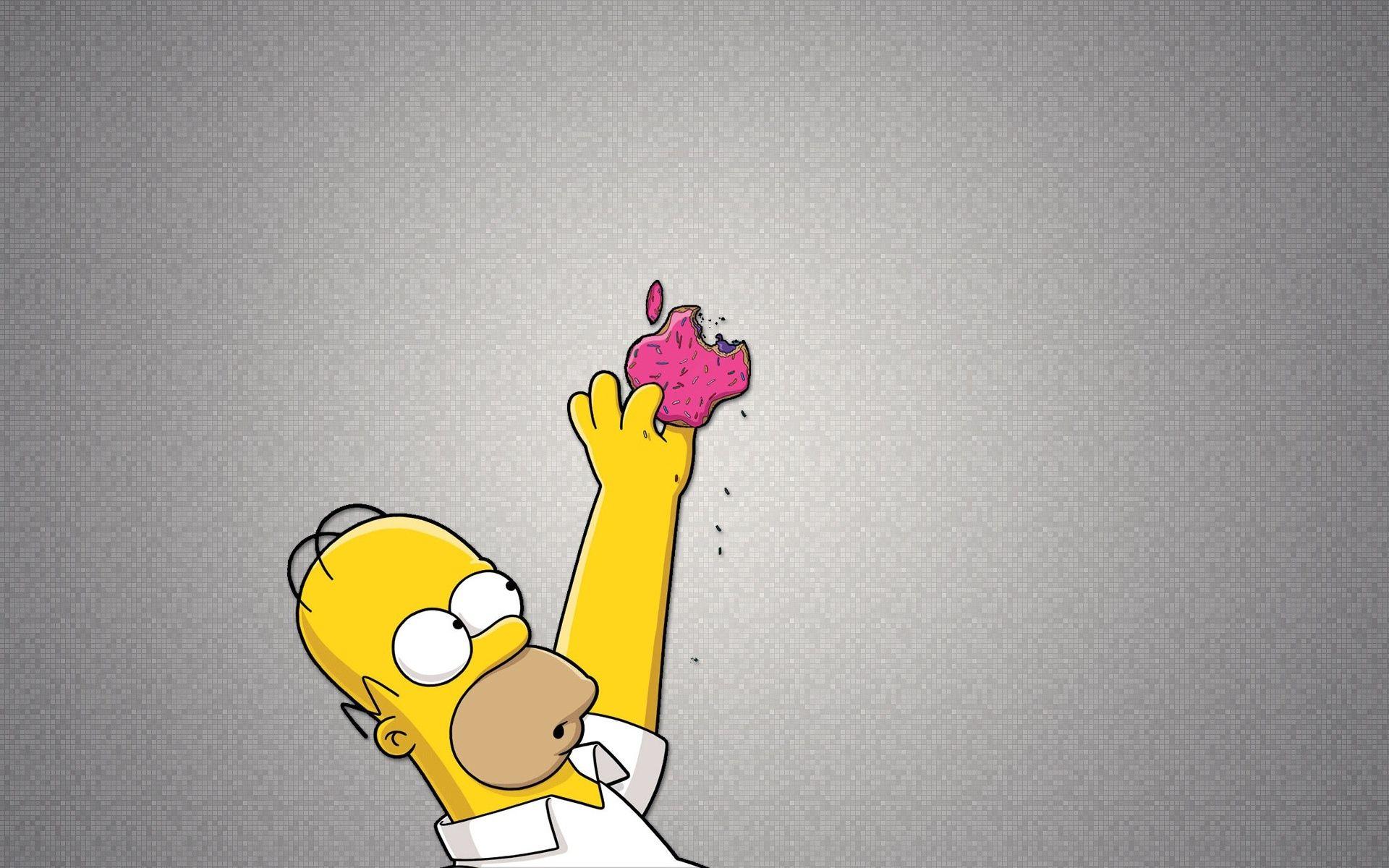 Homer Simpson Apple Wallpapers Wallpaper 1920×1080 Bart