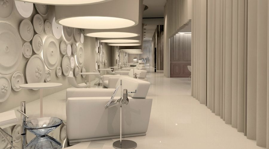 LUXURY NAIL SPA. An elegant interior. We created a captivating space ...